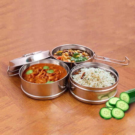 Jagdamba Cutlery Private Limited Daily Needs 3 PCS Tiffin Lock n Lock
