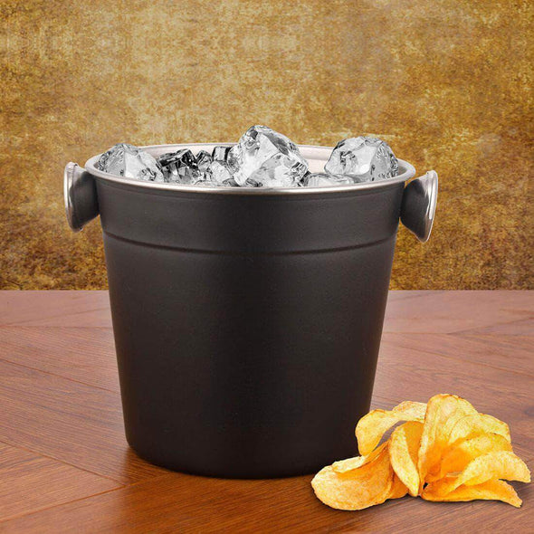 Jagdamba Cutlery Pvt Ltd. Bar Tool 11 CM Ice Bucket - Black