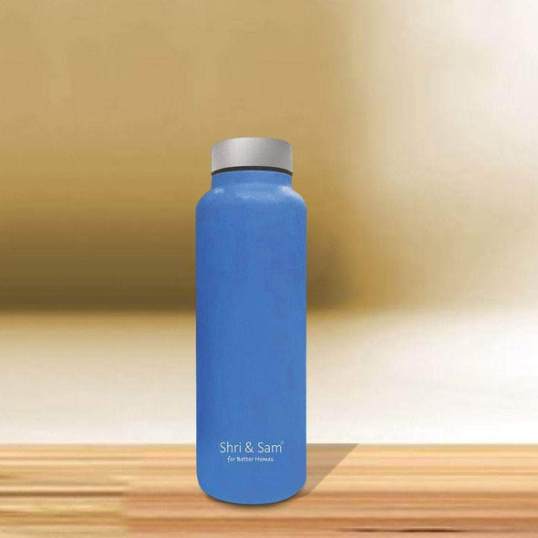 Jagdamba Cutlery Pvt Ltd. Daily Needs BLUE Stainless Steel Bottle - 700 ML