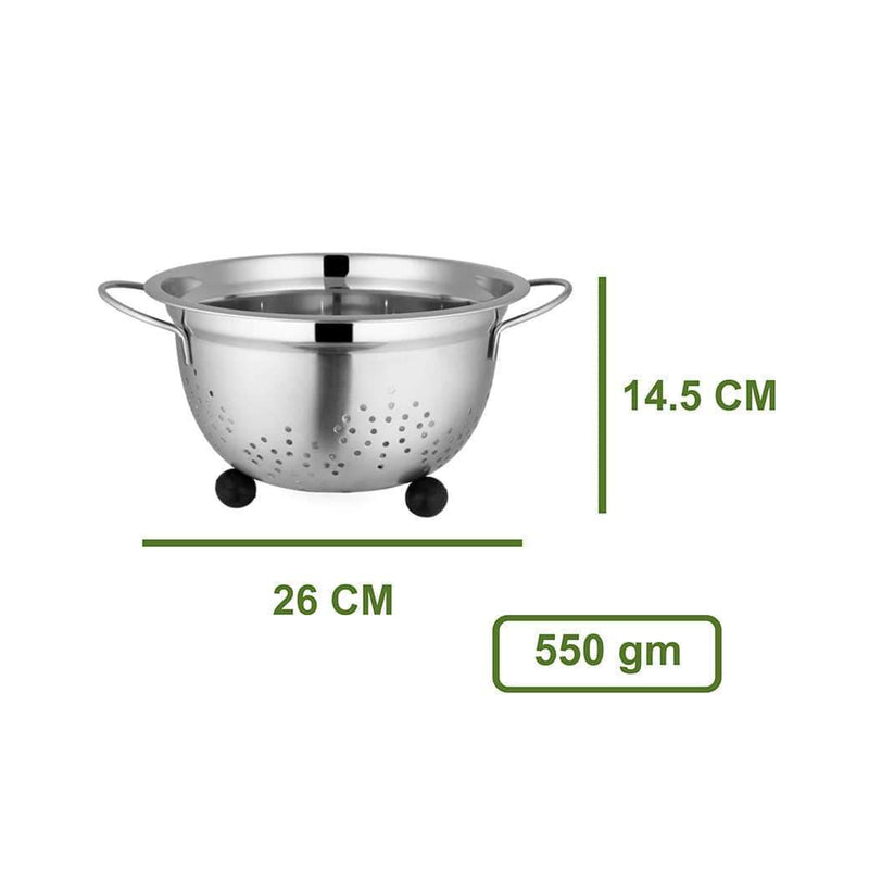 Jagdamba Cutlery Pvt Ltd. Daily Needs Colander Rubber base- German