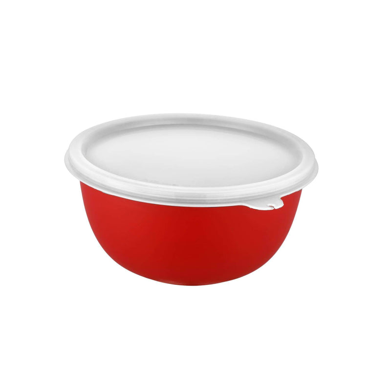 Jagdamba Cutlery Pvt Ltd. Serveware RED Bowl with Plastic Lid - Euro