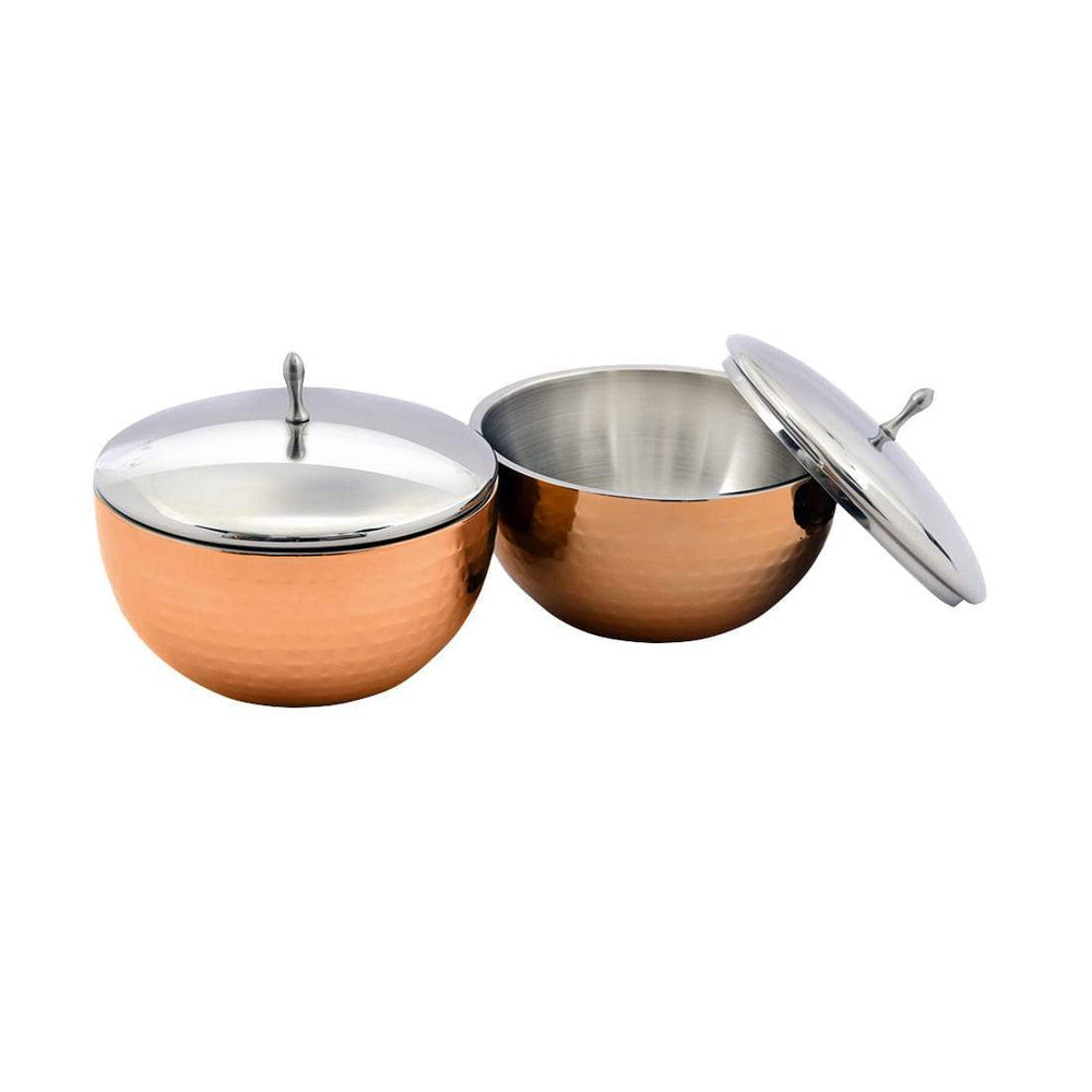 Jagdamba Cutlery Pvt Ltd. Serveware Serving Bowls with Lid Set of 2 PCS- Glory