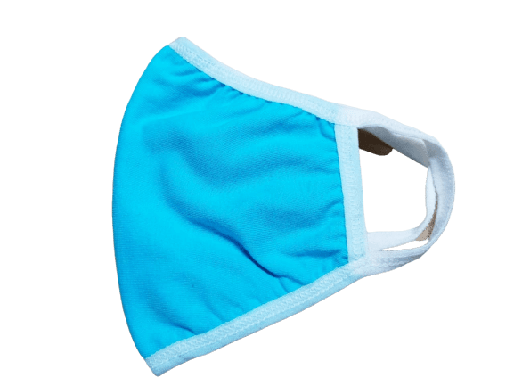 Reusable Cotton 2-Layers Face Mask - Sky Blue
