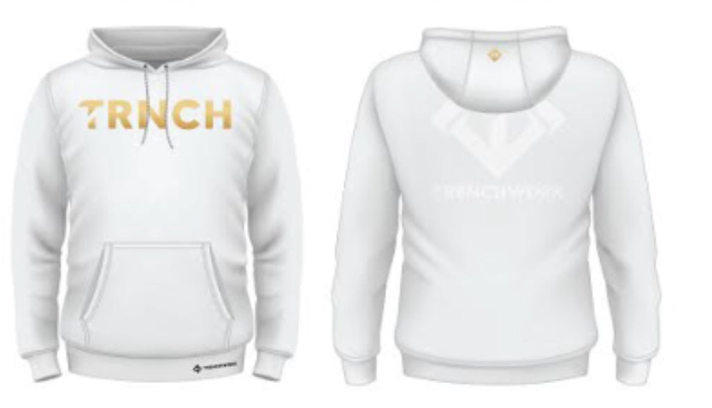 White Trenchwork Hoodie - Trenchworkgear