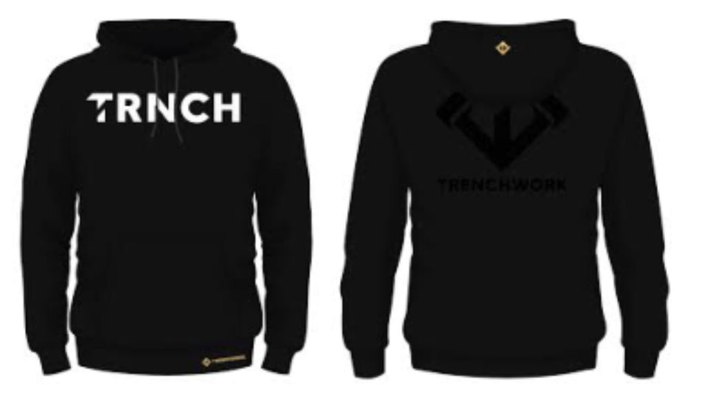 Black Trenchwork Hoodie - Trenchworkgear