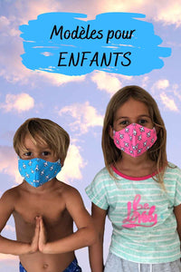 Face masks I WANT TO TRAVEL for kids