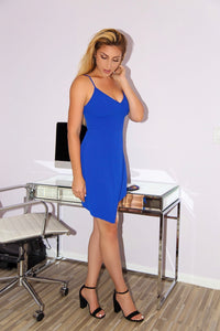 ASHLEY - ROYAL BLUE DRESS (Fast Ship 4-7 Days)