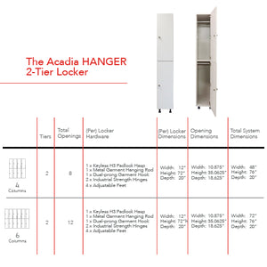 Acadia 2-Tier Hanger Locker (NATIVE CHERRY)