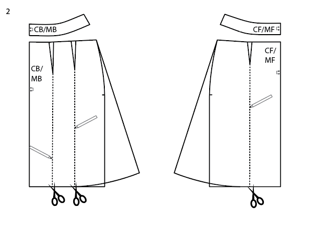 How to turn the Sigrid pencil skirt into an A-line skirt without darts.