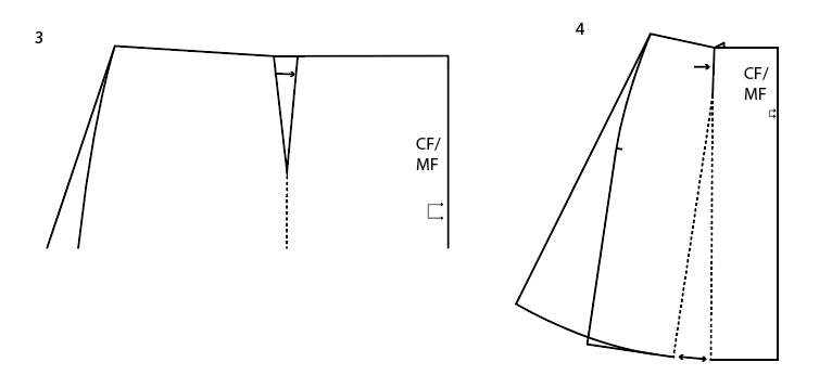 How to turn the Sigrid pencil skirt into an A-line skirt without darts. Closing the darts.