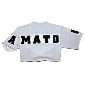 CROPPED SWEATSHIRT _ 0001 _ HEATHER GREY