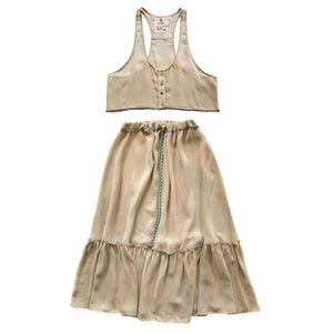 Drawstring Skirt Set