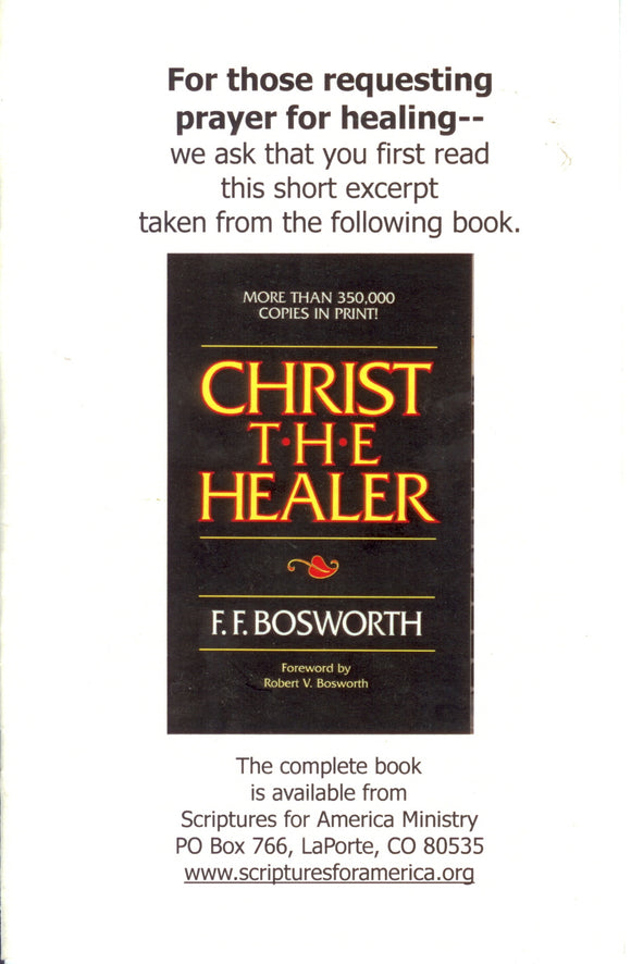 PS-029 - Healing is Our Born-Again Birthright {Christ Healer pamphlet}