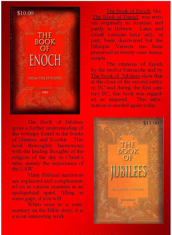 The Book of Enoch and The Book of Jubilees SPECIAL