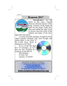 BRANSON 2017 CD MESSAGES