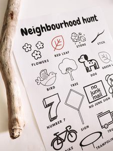 Neighbourhood Hunt Worksheet