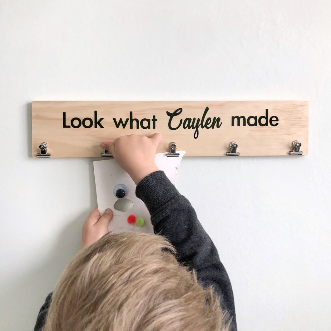 Personalised Art Hanger