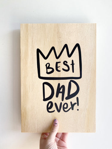 Father's Day DIY plaque