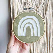 Rainbow Embroidery Hoop Hanger