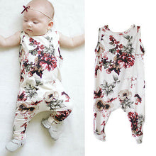 Sleeveless Pants one piece Floral Jumpsuit