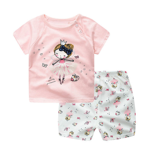 2 Pc Ballerina Shirt & Shorts