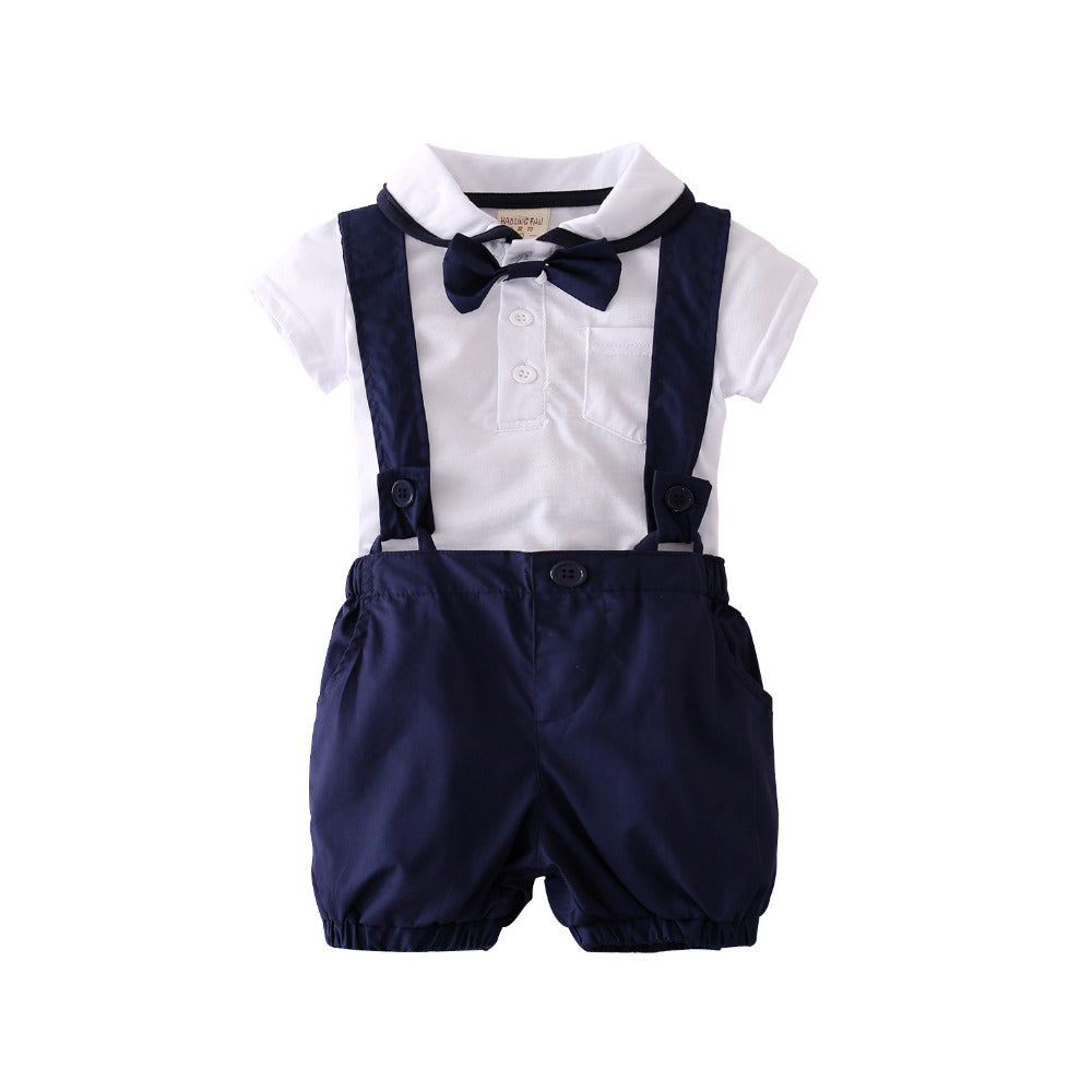 2 Pc Shirt & Suspenders