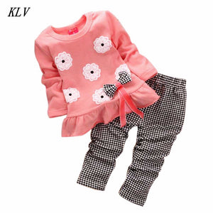 2 pc Set Ruffled Top and Coordinating Pants