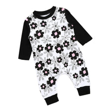 Baby Girls Floral Romper Long Sleeve  0-24M