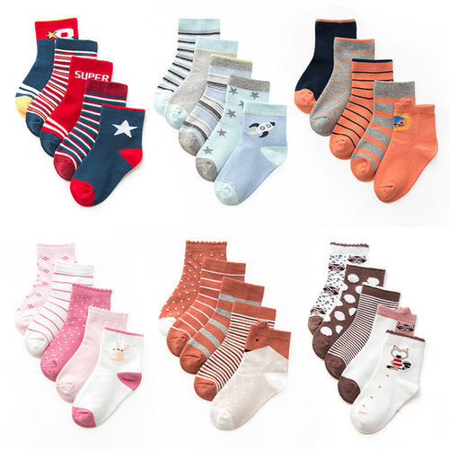 Set of 5 Socks, multiple options