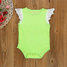 Lace, Solid Color Girlie Onesie