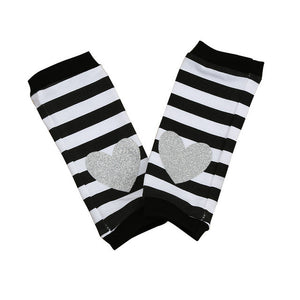 Stripe & Heart Leg Warmers, multiple colors
