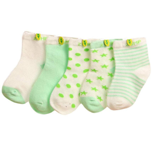 Cotton Anti-slip Children's Socks 5 pairs