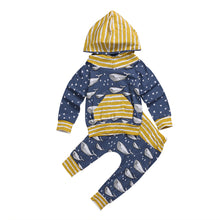 2 Pc Whale Hooded Pullover & Sweatpants