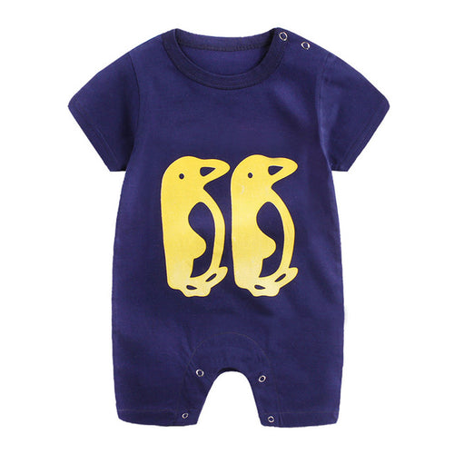 Navy Penguin Playsuit