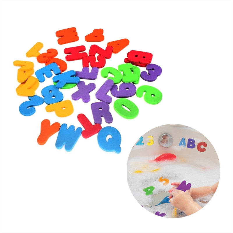 36 piece Set Baby Bath Toy Letters & Numbers