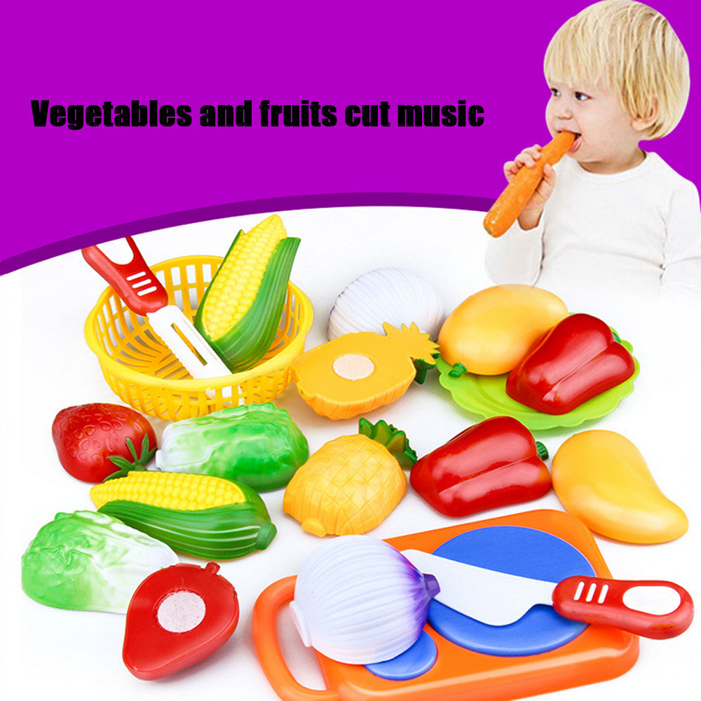 12PC Cutting Fruit Vegetable Pretend Play Children Kid Educational Toy