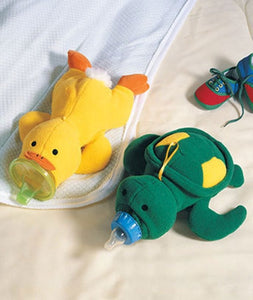 Plush Turtle or Duck Bottle Warmer Cover