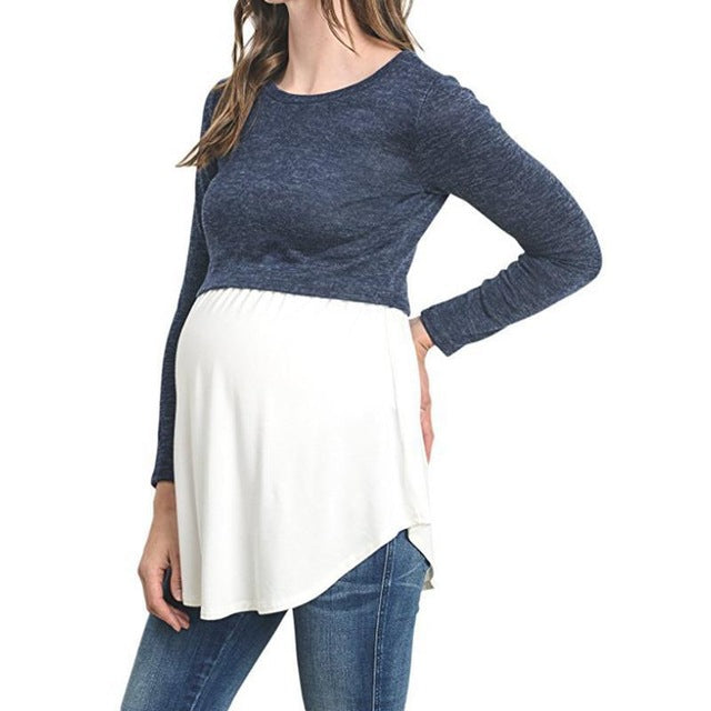 Patchwork Maternity Tee Shirt