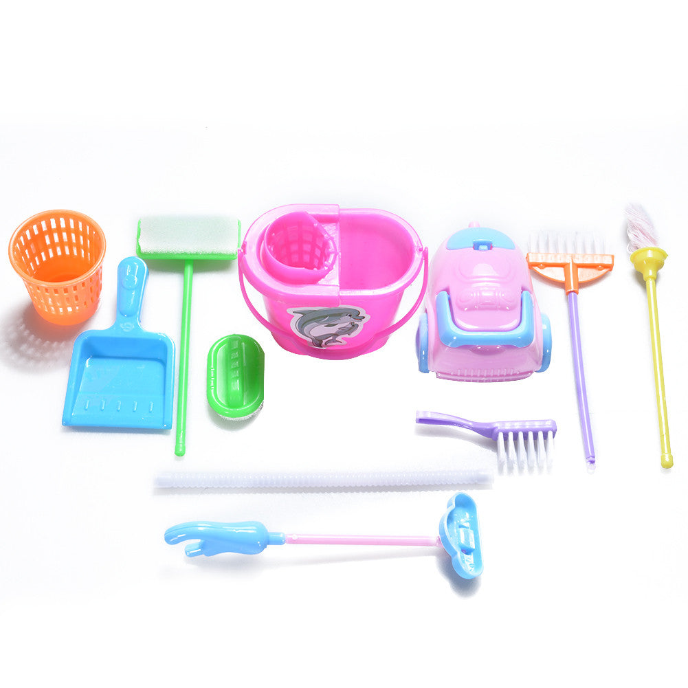 9Pcs Cleaning Mini Playset
