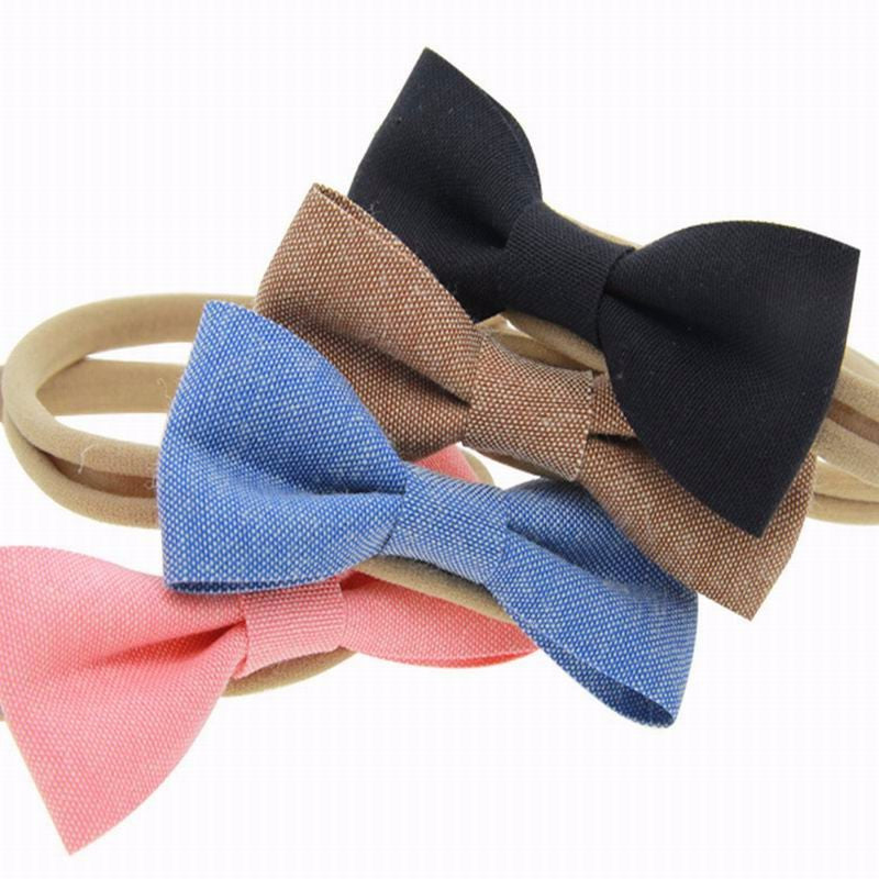 Cute Baby Bow Hairbands 4pc Set