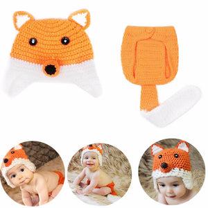 Fox Beanie and Diaper Cover 2 pc set