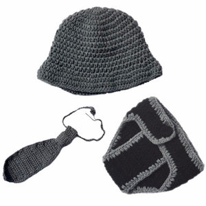 3pc Set Hat, Tie & Diaper Cover