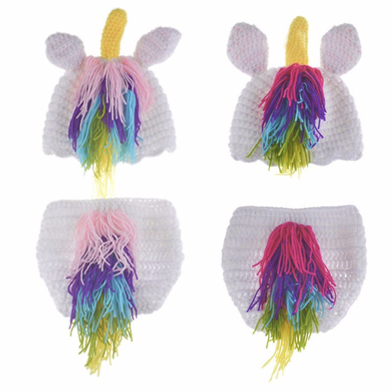 Unicorn Beanie with Matchine Bloomer