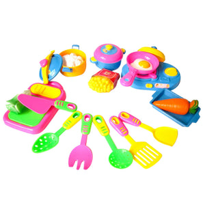 17Pcs Kids Pretend Kitchen Play Toy Set