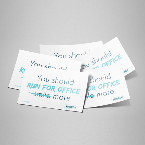 Run for Office Bumper Sticker 5-Pack