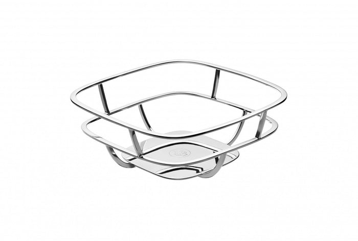 Christofle - Silver Time Bread Basket with Napkins