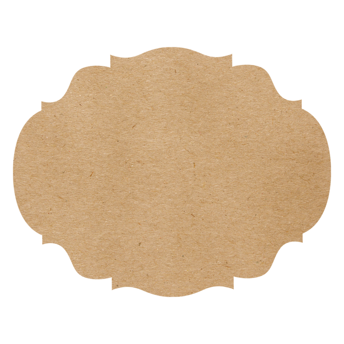 Hester & Cook - Die Cut Kraft French Frame Placemat