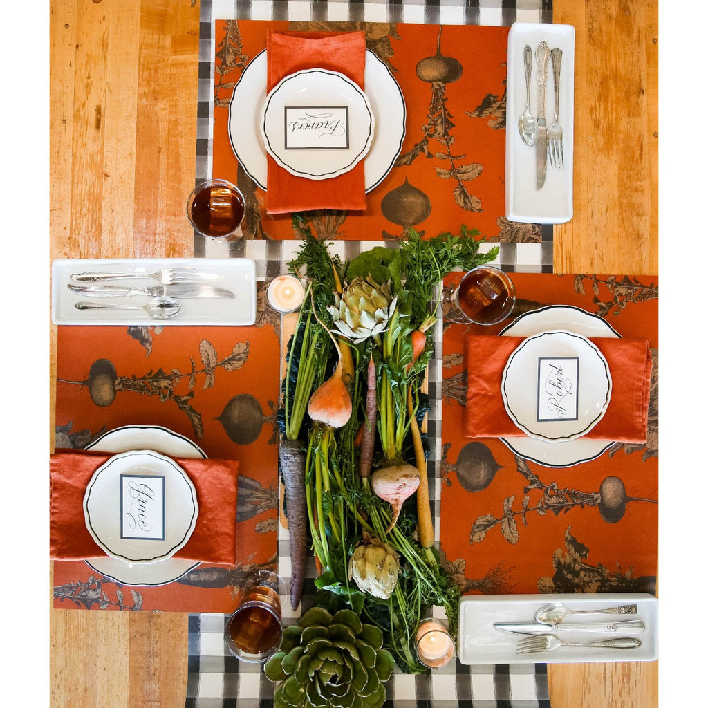 Hester & Cook -Harvest Vegetables (Persimmon) Placemat