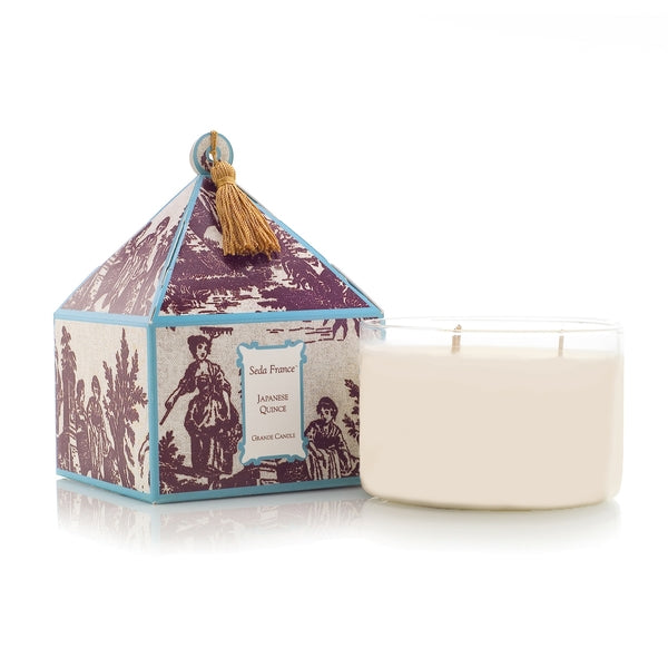 Japanese Quince Pagoda Three Wick Candle