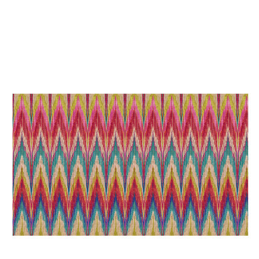 Les Ottomans Ikat Zig Zag Cotton Tablecloth by Matthew Williamson
